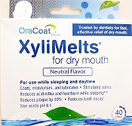 Xylimelts for Dry Mouth 40 Tablets - Neutral Flavor